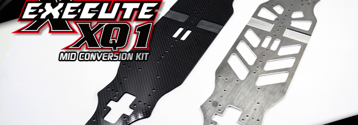 Aluminum Chassis for Execute XQ1 Mid Conversion Kit